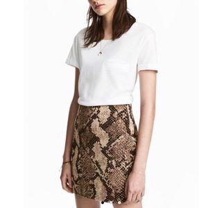 Snake Print Jacquard Weave Skirt